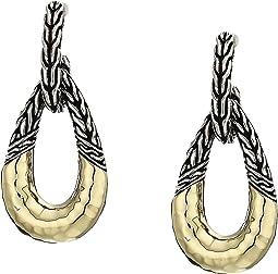Classic Chain Hammered Hoop Earrings