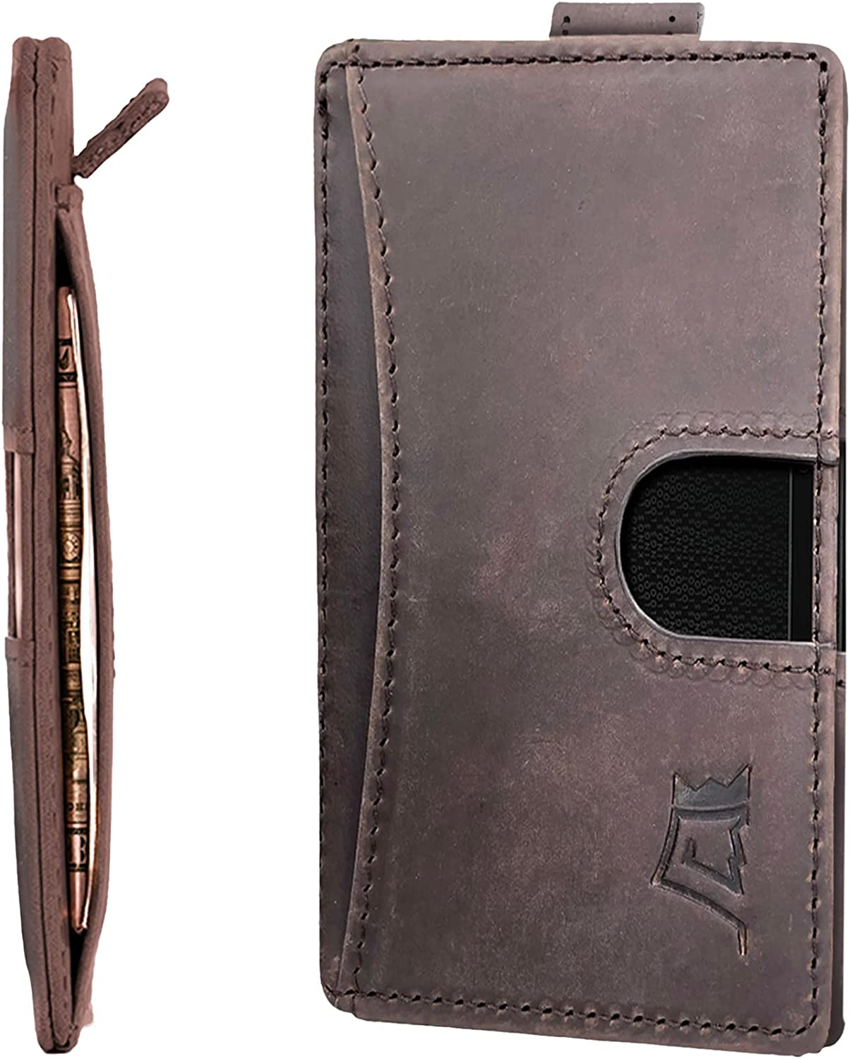 Kings Popular brand in the world Loot Full Grain Leather Front Pocket service Wallet Men – for