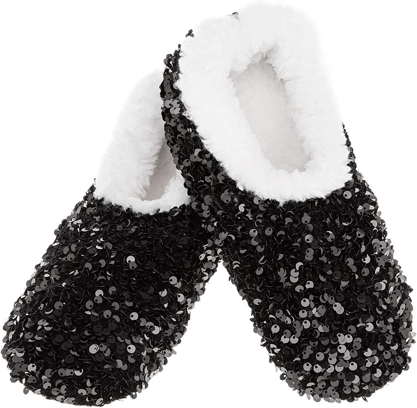 Ladies Bling Sequin Cosy Snoozie Slipper Fleece Christmas Mother/'s Day Gift
