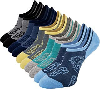 93c424b2a365 Empino Mens No Show Socks Non Slip Funky Cotton Low Cut Ankle Casual Socks  Liners