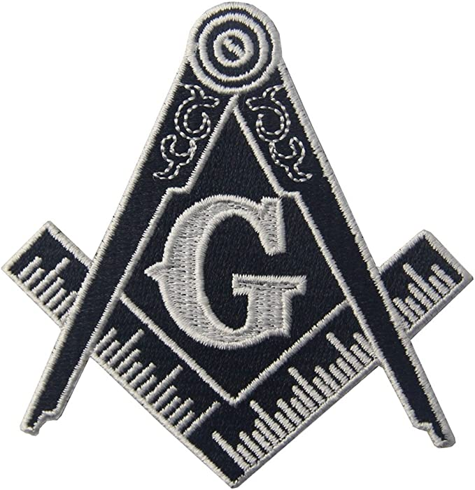 Embroidered 5 Free Mason Masonic Emblem Iron or Sew Hat Vest Bag Patch Freemason Gift
