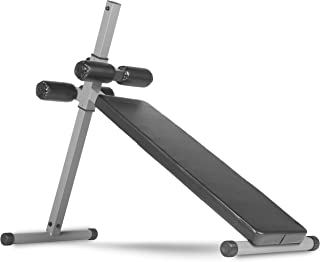 XMark Fitness 10 Position Adjustable Sit-up Ab Bench, 350 lb. Capacity, Ergonomically Positioned Vinyl Covered Roller Pads, Affordably Priced, Experience The Difference with XMark XM-4360