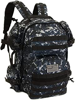 blue digital camo backpack