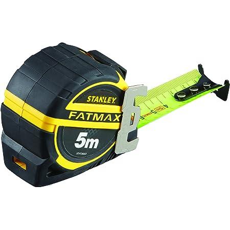 Stanley xtht0-36003 mesure 5m x 32 mm - Gamme Fatmax - Revêtement mylar Anti-Abrasion et Anti-Corrosion - Crochet 3 Rivets pour Une meilleure Résistance À l'Arrachement - Position Zéro Réel