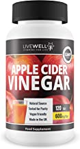 Apple Cider Vinegar 120 Tablets aE 600mg Daily Serving aE UK Made aE Premium Quality Supplements aE Vegan Friendly Estimated Price : £ 7,99