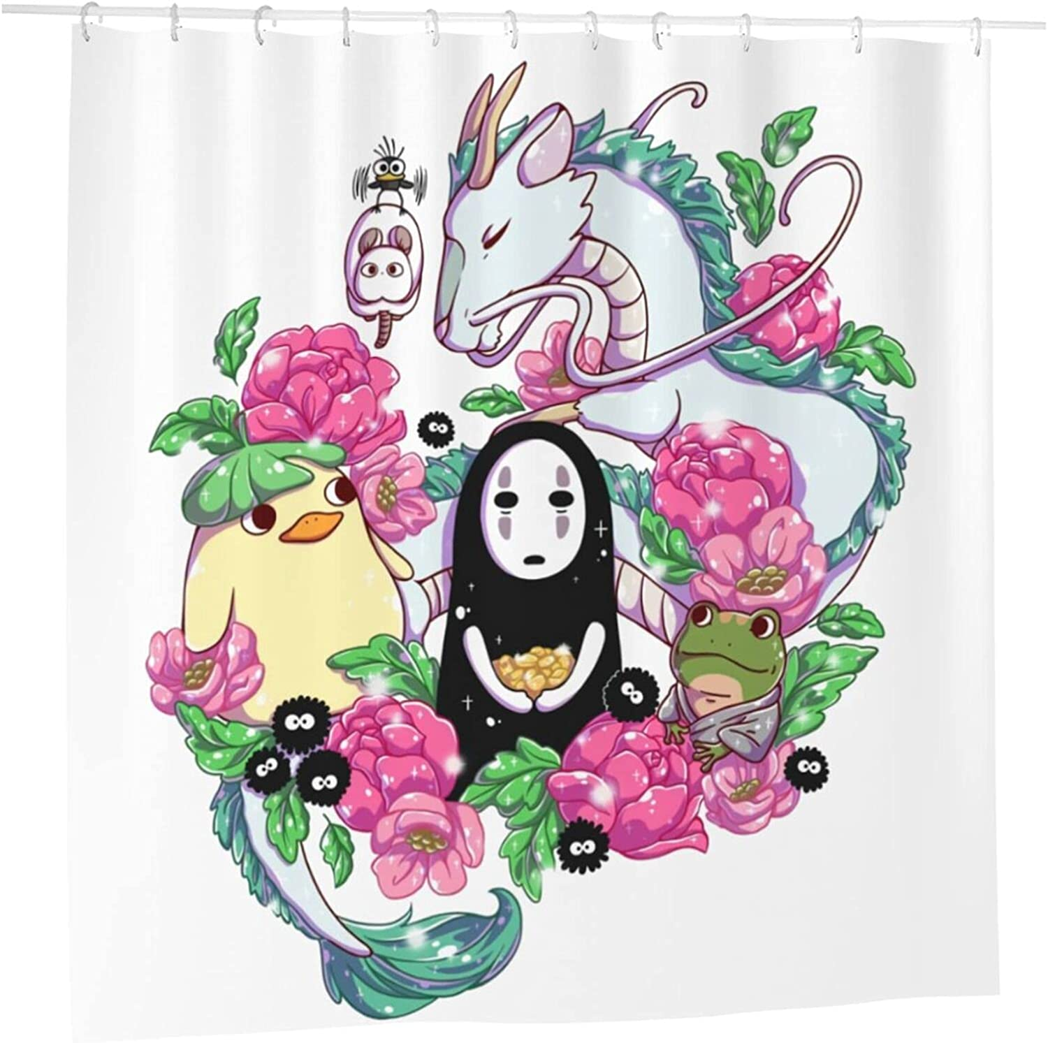 Spirited Away All items in the store Anime Bathroom Shower Curtain X H Elegant 72