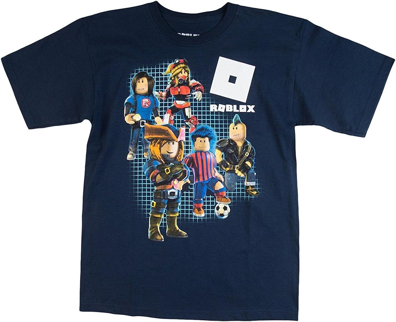 Roblox Boy's Shot Sleeve Graphic T-Shirt Small, Navy