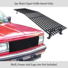 APS Compatible with 1982-1990 Chevy S-10 Blazer S-15 Jimmy Upper Stainless Black Billet Grille 8x6 Wide C85004J