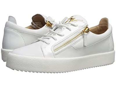 Giuseppe Zanotti May London Textured Low Top Sneaker (Bianco) Men
