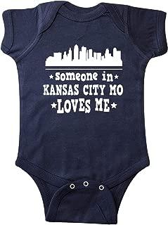 inktastic Kansas City Missouri Loves Me Skyline Infant Creeper
