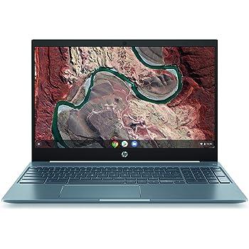 "HP Chromebook 15 - 15.6"" Full HD Touchscreen Intel Core i3-8130U Intel UHD Graphics 620 4GB SDRAM 128GB eMMC Audio by B&O Ceramic White/Cloud Blue Backlit Keyboard 15-de0517wm (Renewed)"