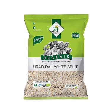 24 Mantra Organic Urad Dal White Split, 500g