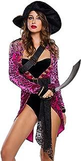 Blugibedramsh Halloween Pirate Costumes for Women Cruel Seas Captain Buccaneer Sexy Swashbuckler Cosplay Dress