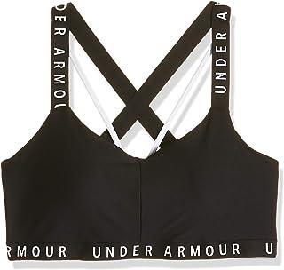 حمالة صدر رياضية من اندر ارمور للنساء، تتميز باحزمة جذابة رياضية تبرز العلامة التجارية النصية - BLK7