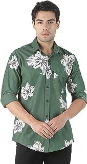 LEVIZO 100% Cotton Designer Printed Full Sleeves Regular Fit Shirts for Men