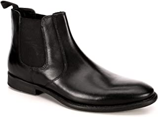Mens Trevor Chelsea Leather Ankle Boot Shoes