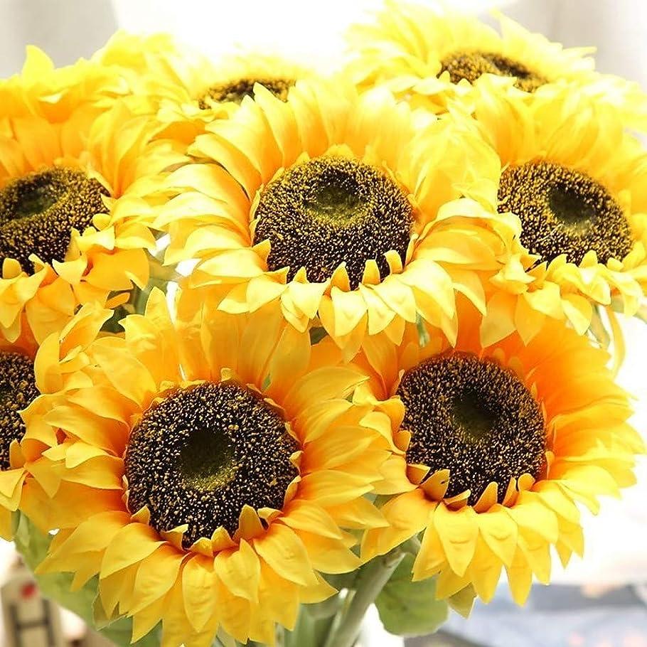 どのように-造花 人工花 5 ブランチ シンプルなスタイル/ウェディングブーケ ヒマワリ/永遠の花 テーブルトップフラワー,イエロー