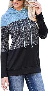 Womens Long Sleeve Drawstring Hooded Hoodies Fashion Hoodie Pullover Fleece Lined