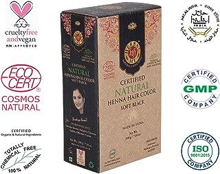 Herbal Me - Soft Black Henna Hair Color 7.05 oz,CERTIFIED 100% Natural by Ecocert(France).VEGAN & HALAL approved, Zero chemicals