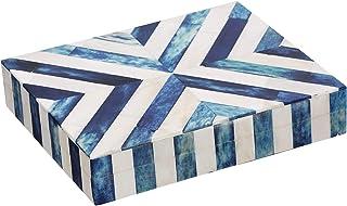 Chevron Pattern Blue Jewelry Organizer Jewelry and Box Storage for Women for Women اتاق خواب اتاق خواب ، کمد - هدایای شکرگذاری
