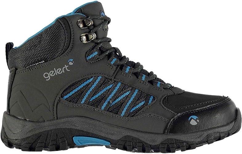 Official Brand Gelert Horizon Chaussures de Randonnée Imperméable Garçon Anthracite Bleu Randonnée Trekking Chaussures (UKC10) (EU28) (USC11)