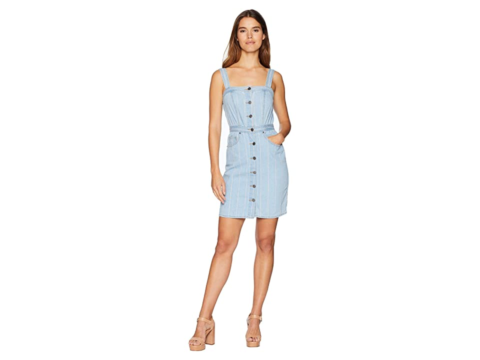 Juicy Couture Denim Pinstripe Dress (Blue Chill Washed) Women