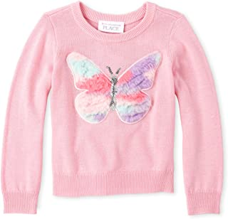 The Children's Place Baby Girls Long Sleeve Graphic Sweater