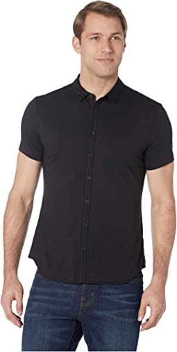Short Sleeve Button Front Placket Shirt K2132V1