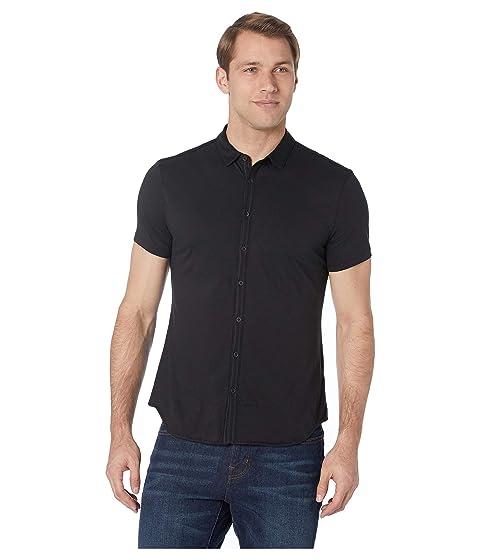 John Varvatos Collection Short Sleeve Button Front Placket Shirt K2132V1