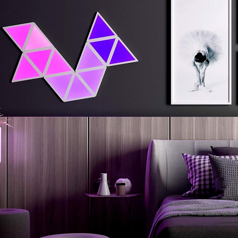 JAKROO Low price Ranking TOP10 6 Pcs Splicing RGB Lights LED Modular Wall Triangle Light