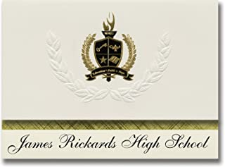 Signature Ankündigungen James Rickards High School (Größehassee, FL) Graduation Ankündigungen, Presidential Stil, Elite Paket 25 Stück mit Gold & Schwarz Metallic Folie Dichtung B078TTR1BR  Schnelle Lieferung