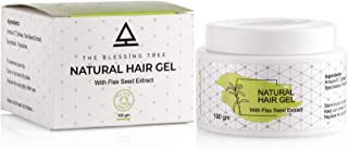 The Blessing Tree Natural Hair Gel Damage Free for Men with Flaxseed Extracts. No Harsh Chemicals. 100gm
