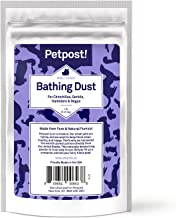 Petpost | Chinchilla Bath Dust for Small Animals - Natural, Pure Cleansing Pumice Sand for Cleaning Degus, Hamsters, Gerbil