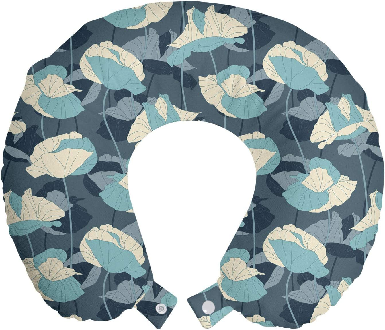 Ambesonne Floral Travel Pillow Neck Deluxe Rhythmic Tones Max 71% OFF Pastel Rest
