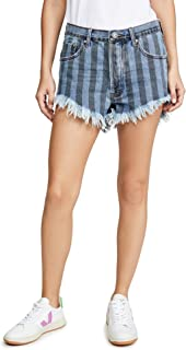 One Teaspoon Women's Zephyr Outlaws Mid Length Denim Shorts