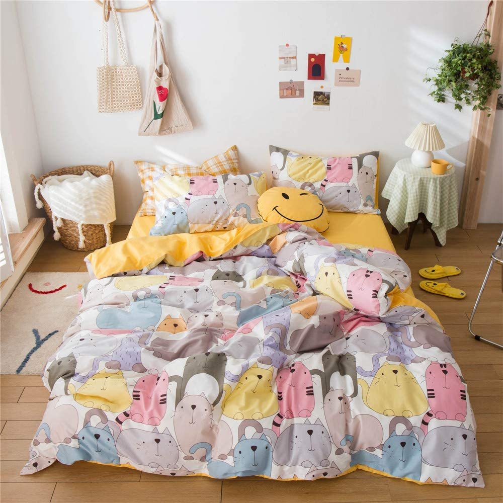 NO Comforter MICBRIDAL Kawaii Pink Strawberry Duvet Cover Twin Soft 100/% Cotton Pink Bedding Set with 2 Pillowcases Girls Women Japanese Style Cute Strawberry Comforter Set with Zipper 4 Ties