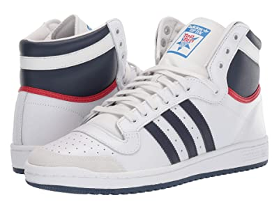 adidas Originals Top Ten Hi (Neo White/New Navy/Collegiate Red) Men