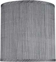 grey striped lampshade