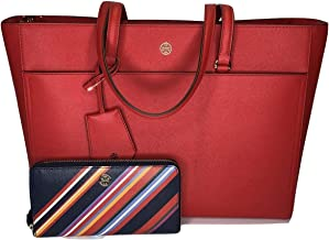 Tory Burch Robinson Tote bundled with matching Zip Continental Wallet