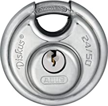 ABUS Diskus® hangslot 24IB/50 van roestvrij staal - met 360° bescherming rondom - voor beveiliging bij sterke weersomstand...
