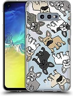 Coque en Silicone Souple TPU Design: Bouledogue fran/çais avec des Lunettes et Un Arc BJJ SHOP /Étui Noir pour Samsung Galaxy A20e
