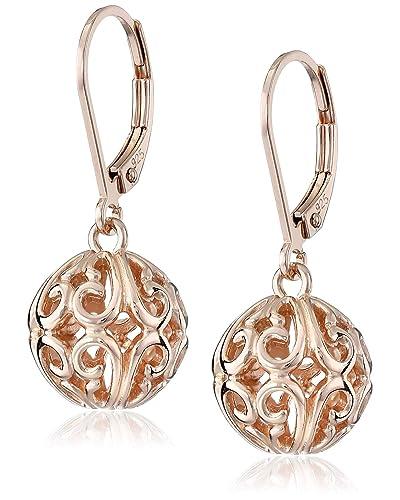 237e6380c5f Womens 14k Gold Earrings  Amazon.com