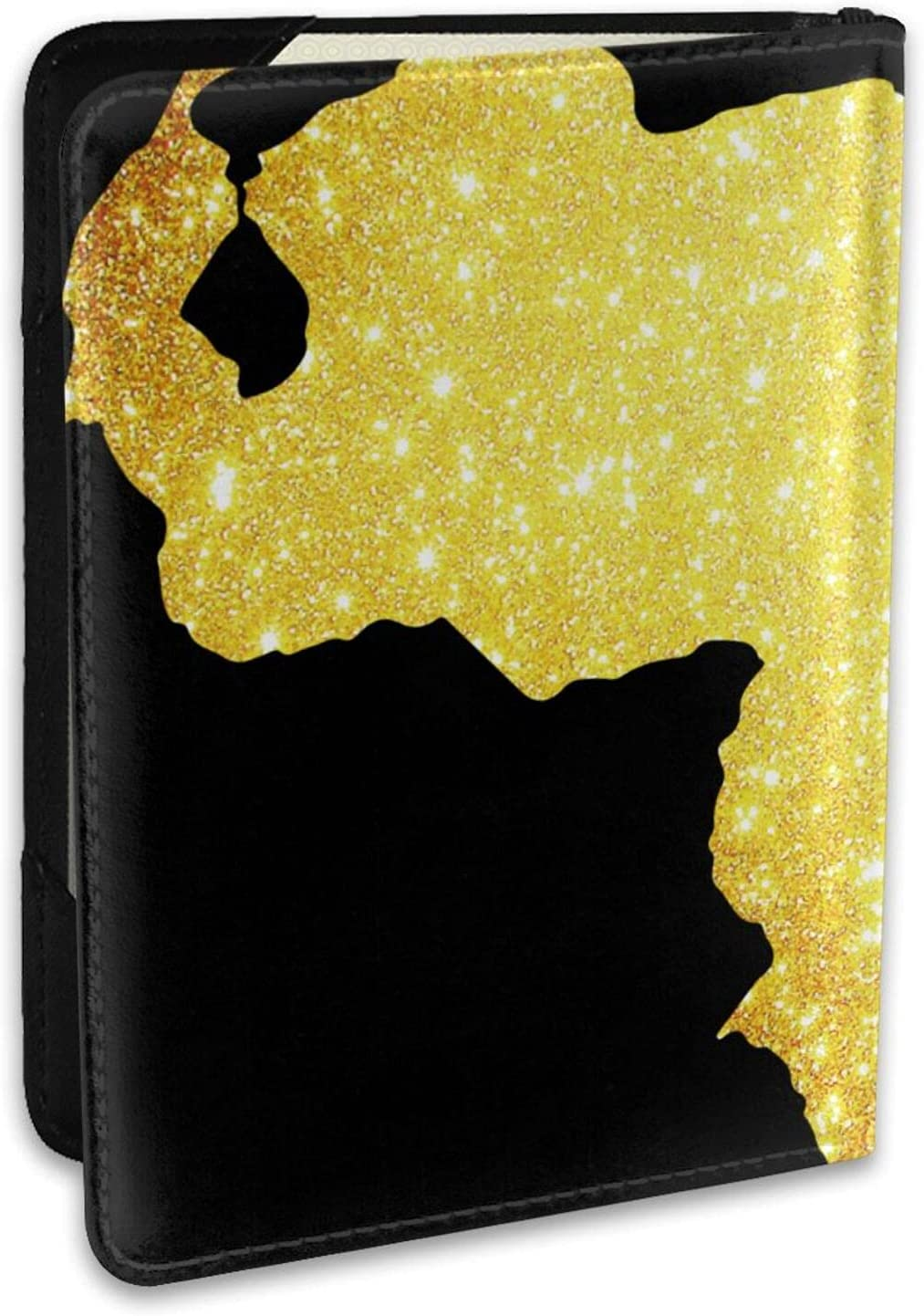 Gold Venezuela Map Memphis Mall Leather Passport Holder Case Credit Dealing full price reduction Ca Cover