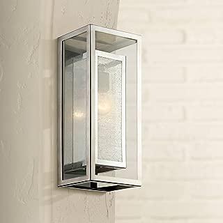 Modern Outdoor Wall Light Fixture Chrome 15 1/2
