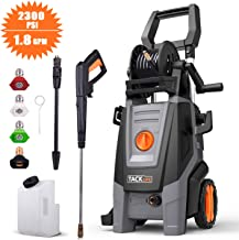 TACKLIFE Electric Pressure Washer, 2300PSI 1.8 GPM, High Efficiency Power, Electric Pressure Cleaner, Pure Copper Motor, 360 ° Easy to Remove Dirt, for Vehicle, Home, Garden, Barbecue