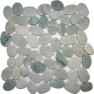 Sliced Green Pebble Tile 12x12