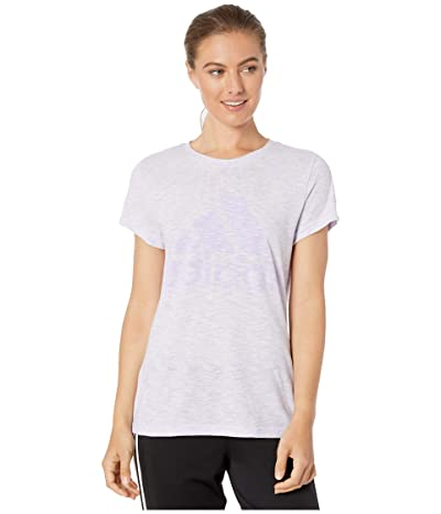 adidas Winners Short Sleeve Crew Tee (Purple Tint Melange) Women