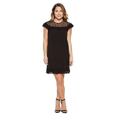 Tahari by ASL Petite Plisse Pleat Dress (Black) Women