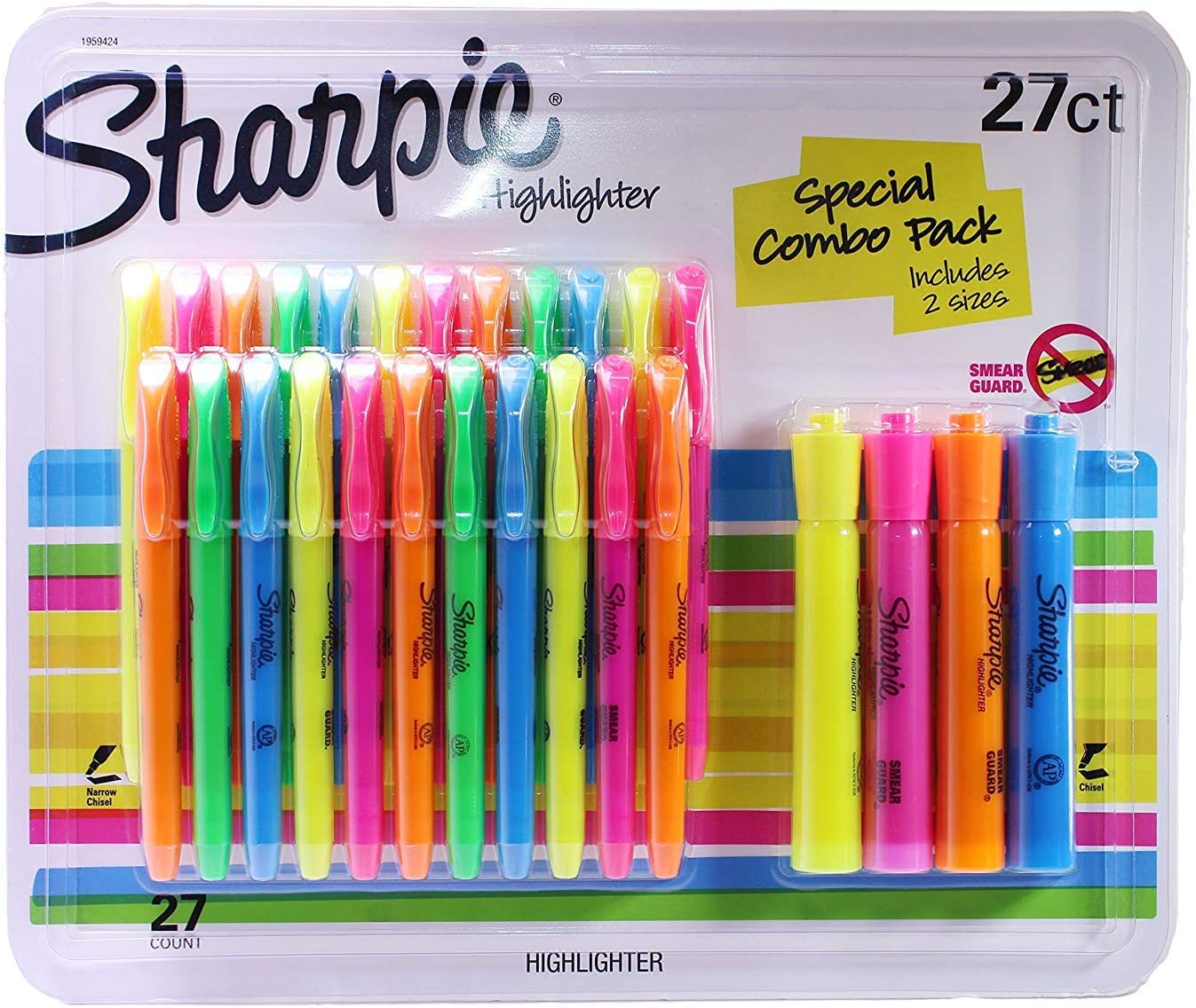 Sharpie Highlighters SALENEW very popular Chisel and Assorted Co Tips Narrow Popular