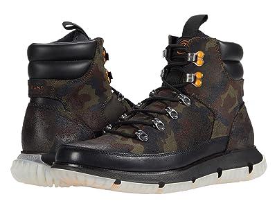 Cole Haan 4.Zerogrand Hiker Wp (Black Olive Camo Print Waterproof Suede/Black) Men